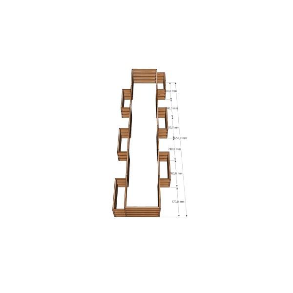 Большая и удобная высокая грядка / 465x107см