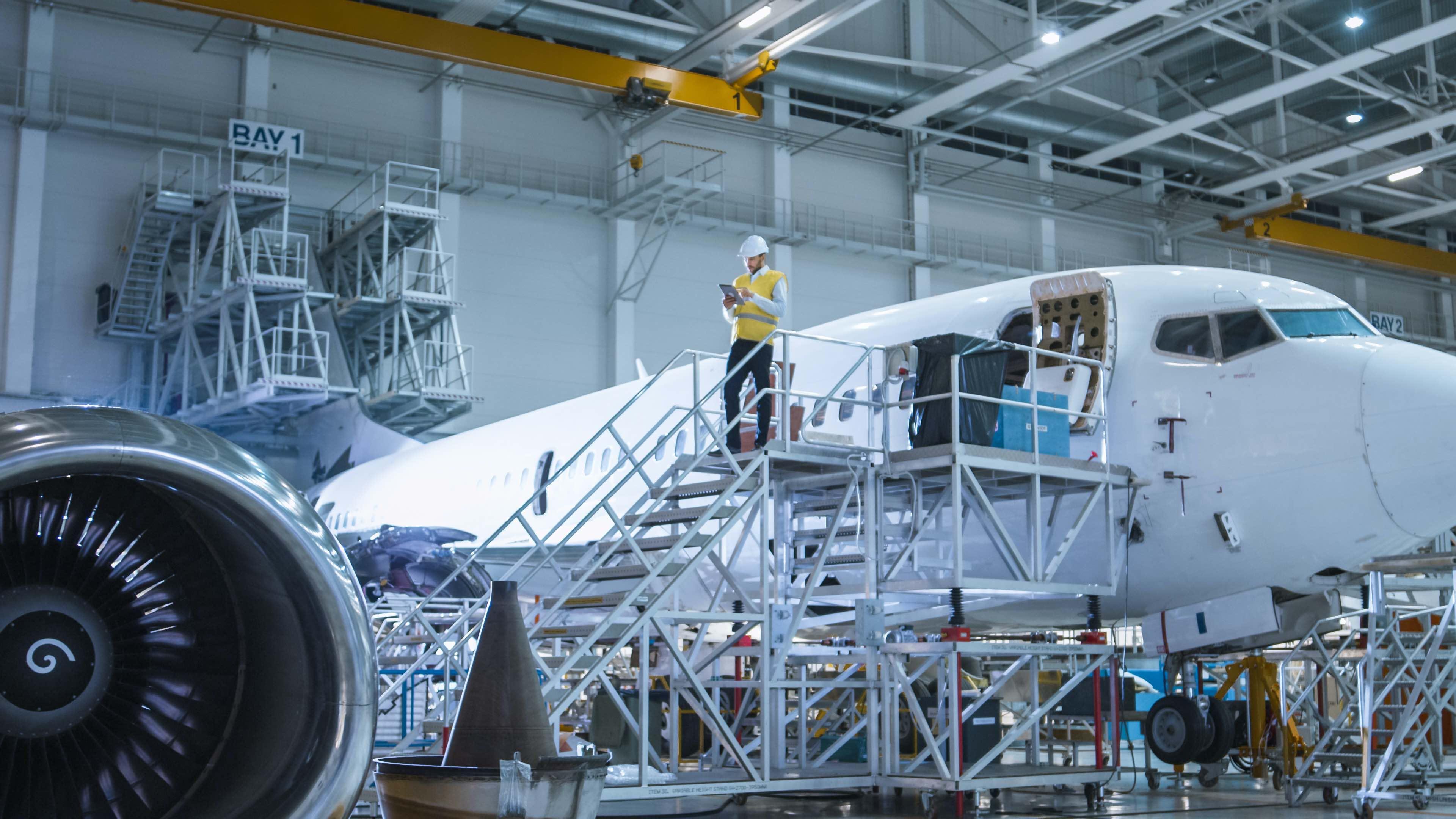 Opération de maintenance aéronautique