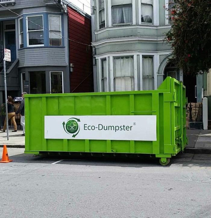 Eco-Dumpster Rental San Francisco and Junk Removal