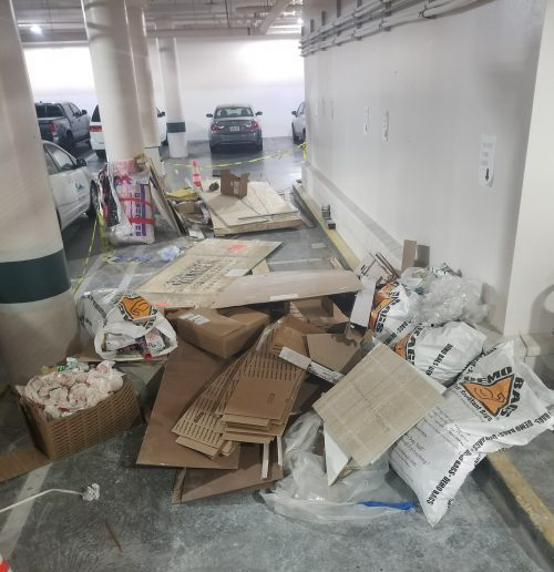 removal of construction debris from an underground parking garage in mountain view ca