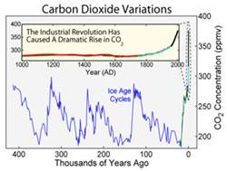 Fossil fuels CO2-variation