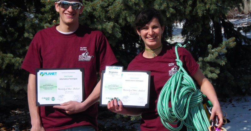 UMass Arbor Team wins Arboriculture Competition