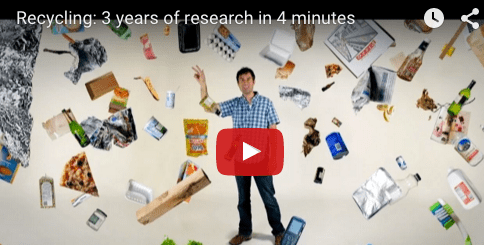 Graduate Student, Jared Starr Investigates Recycling Rates in Video