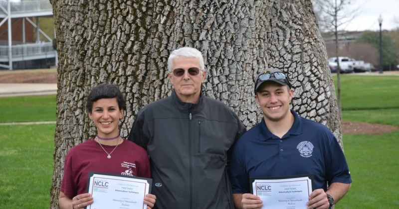 Arboriculture & Urban Forestry students Nicolette Eicholtz and Shayne Bradford took first place at the National Collegiate Landscape Competition