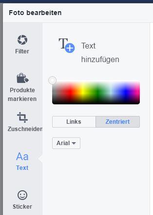 Facebook: einfache Fotobearbeitung schon eingebaut