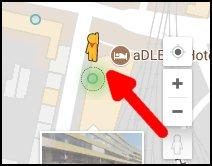 google maps pegman auf blauen punkt setzen