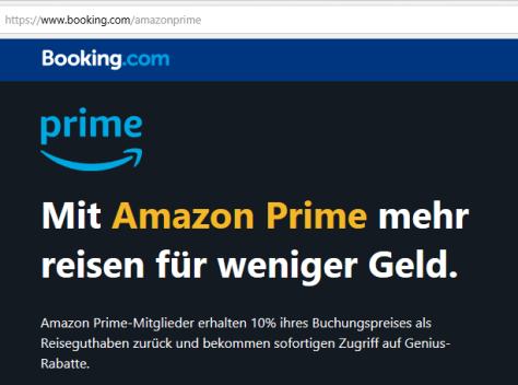 Booking.com Rabatt mit Amazon Prime_teaser Aktion