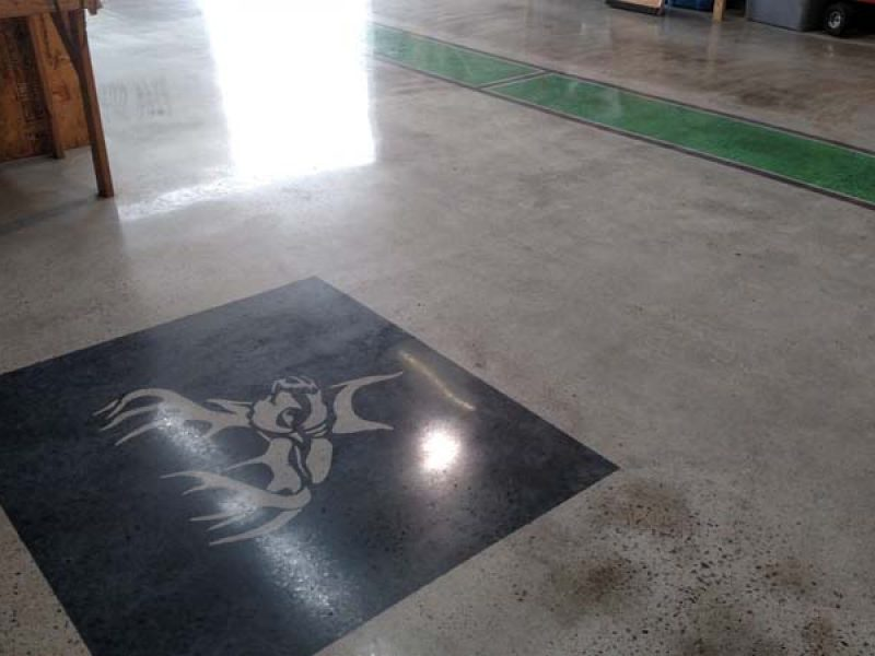 Concrete Polish Custom Stencil And Stain Eco