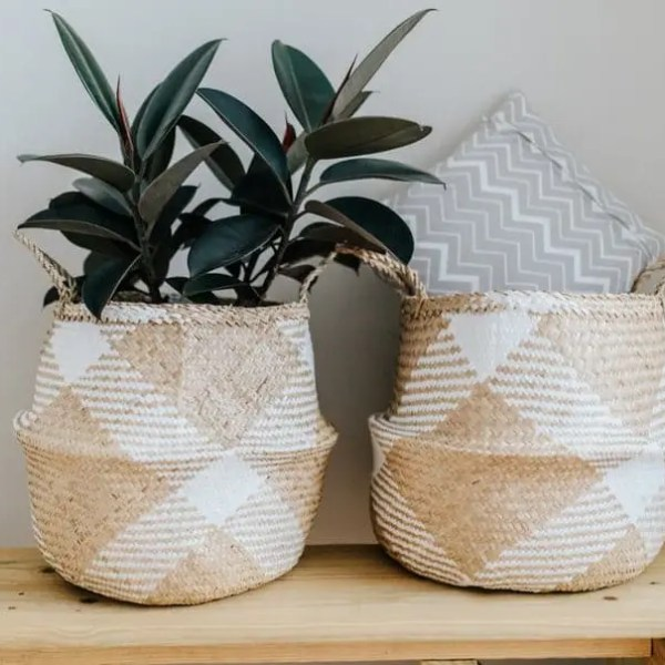baskets as planters