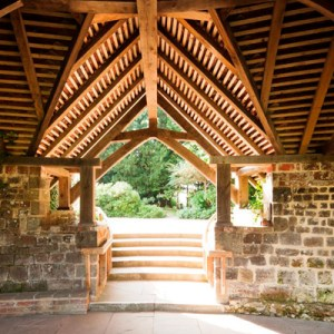 Chithurst Buddhist Monastery Cloister Garden Sussex