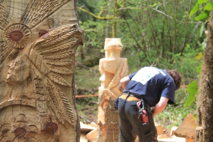 Chainsaw sculpting