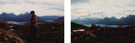 Photos taken by SC circa 1981 featuring the artist's father assembling a home-made 2m antenna above Loch Torridon