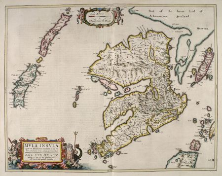 """""""VLWA"""" and surrounding islands from Blaeu's Atlas Maior (1654) from the National Library of Scotland"""