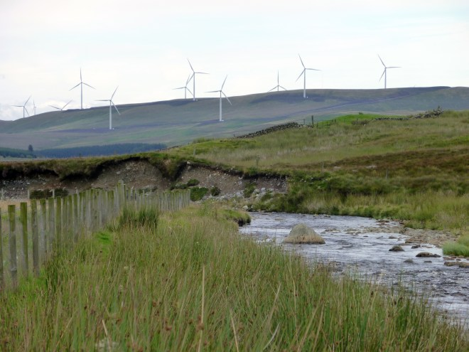 Looking for the source of the Clyde in Lanarkshire, 2010.  Photo Chris Fremantle