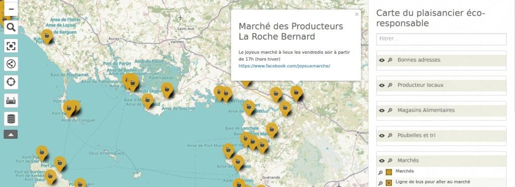 La carte collaborative du plaisancier éco-responsable