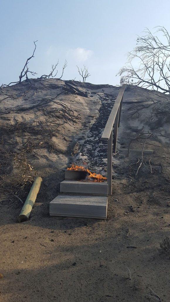 burning stairs