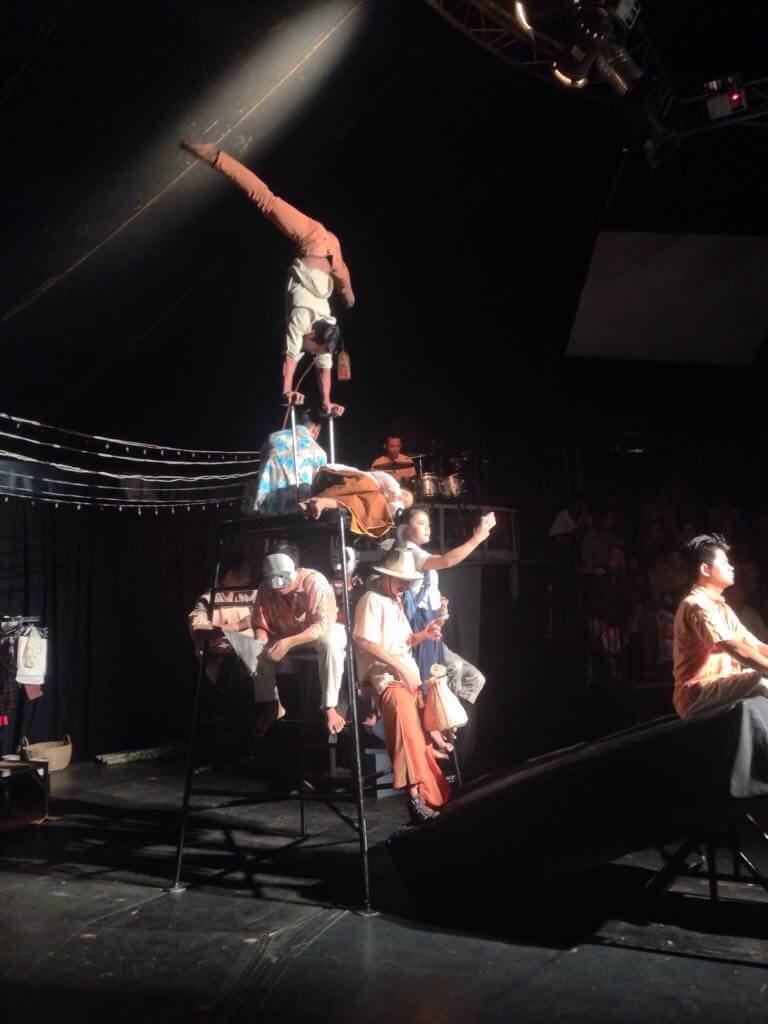 The artists of the Phare Circus