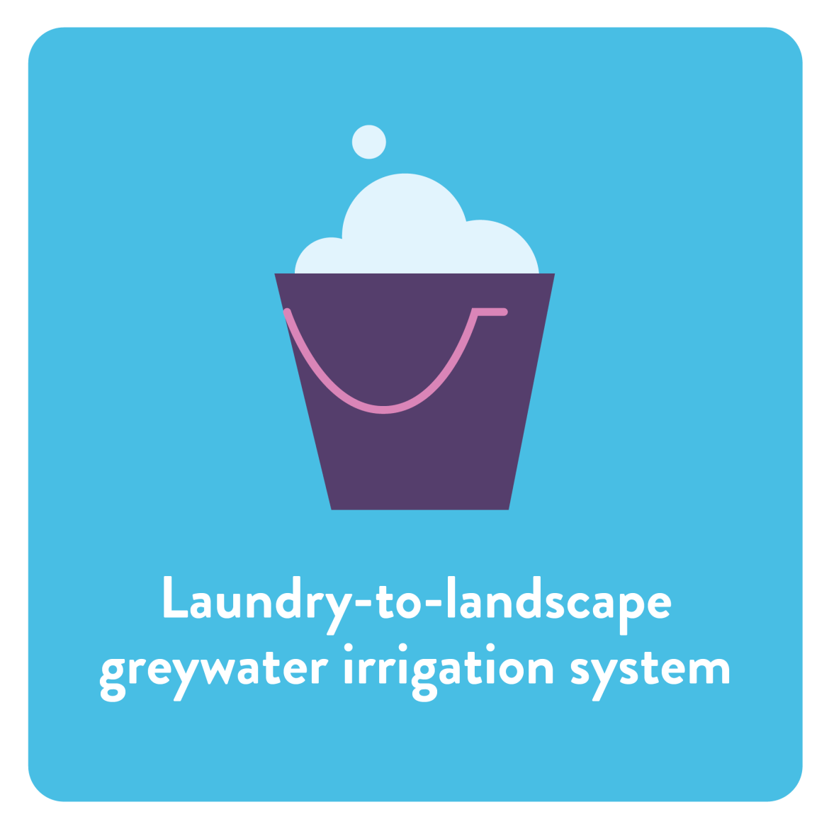 Laundry-to-landscape greywater irrigation system