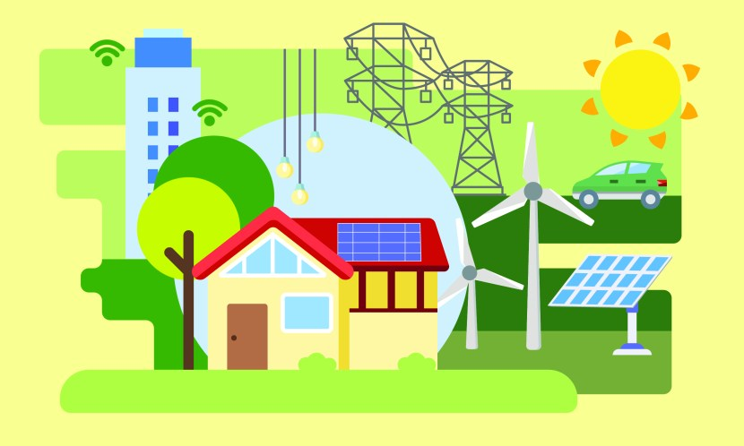 cover art showing community microgrid elements