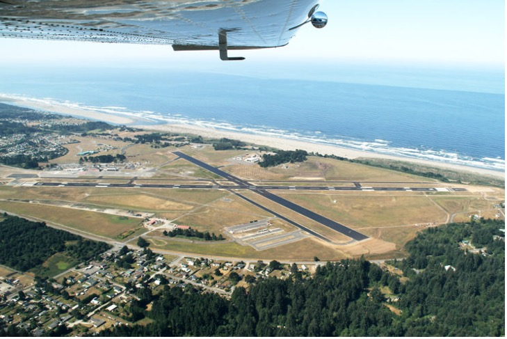 Image showing aerial view of Redwood Coast Airport microgrid site