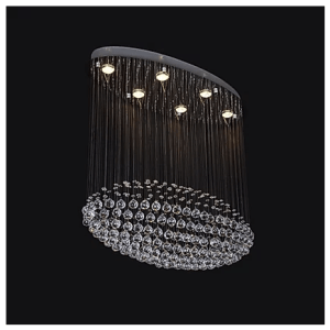 Dinning room hanging crystal chandelier