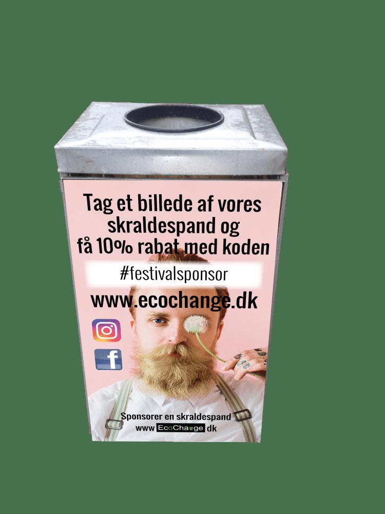 Illustration af event spand til affaldssortering