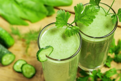 Healthy drink, vegetable juice, studio shot