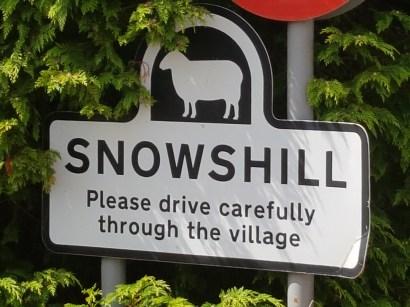 Snowshill sign