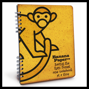 Banana Paper Monkey Notebook