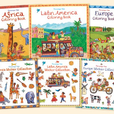 Eco-Friendly, Multi-Cultural Children's Books:  Putumayo Kids Globally-Themed Coloring and Sticker Books