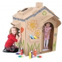 Eco-Friendly Product:  Children's Cardboard Playhouse by Cascades
