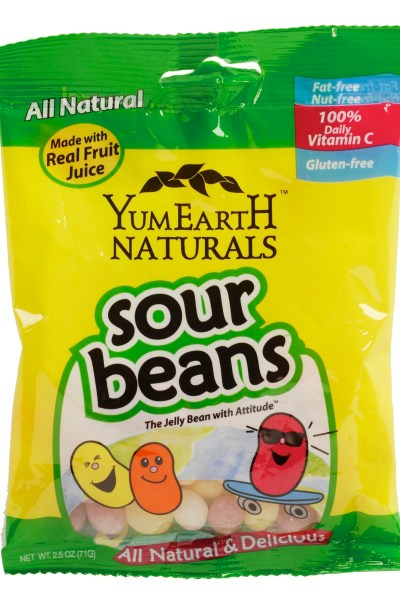 All Natural, Gluten-Free Candy:  YummyEarth Sour Beans