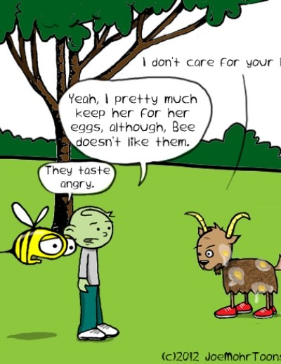 Hank D and the Bee: Augie the Goat Does Not Like Wendy the Hen