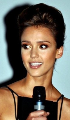 Jessica Alba in Paris presenting the film The ...
