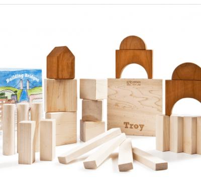 My New Favorite Eco-Friendly Toy:  Larsen Toy Lab Building Bridges Wooden Blocks