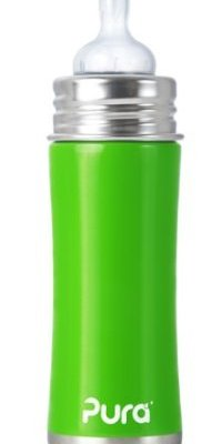 Plastic-Free, BPA-Free, Safe Stainless Steel Baby Bottles by Pura Kiki