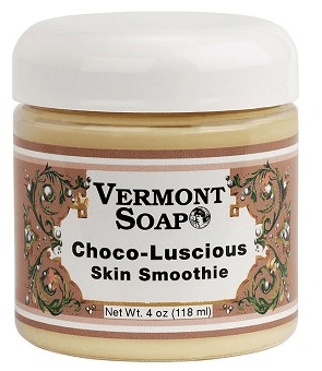 Hydrate your skin with Vermont Soap Choco-Luscious Organic Skin Smoothie