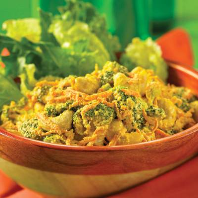 Raw Food Recipes:  Curried Cashews and Mixed Vegetables