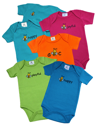 beeXpression organic cotton onesies created in Michigan