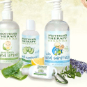 Mother's Therapy Organics hand sanitizer & germ fighting lotion