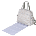 The Brittany Backpack features a changing pad, inner dual bottle pockets and two insulated exterior pockets that will keep bottles warm or cold for up to four hours.