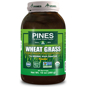 Pines International Wheat Grass Powder:  Organic, Non-GMO, High in Nutrients