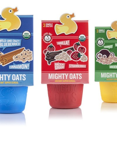 Little Duck Organics Mighty Oats Packaging You Can Plant!