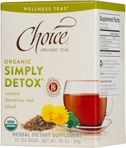 Choice Organic Wellness Teas:  Breathing Space, Throat Cozy, Simply Detox