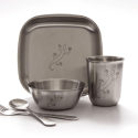 Stainless Steel Toddler Dishes by Untangled Living