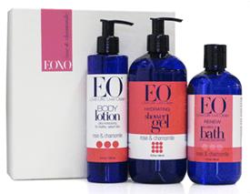 Natural beauty:  Rose & Chamomile EO bath, shower, bubbles!