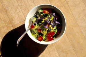 Zoodles with Cherry Tomatoes and Pine Nuts