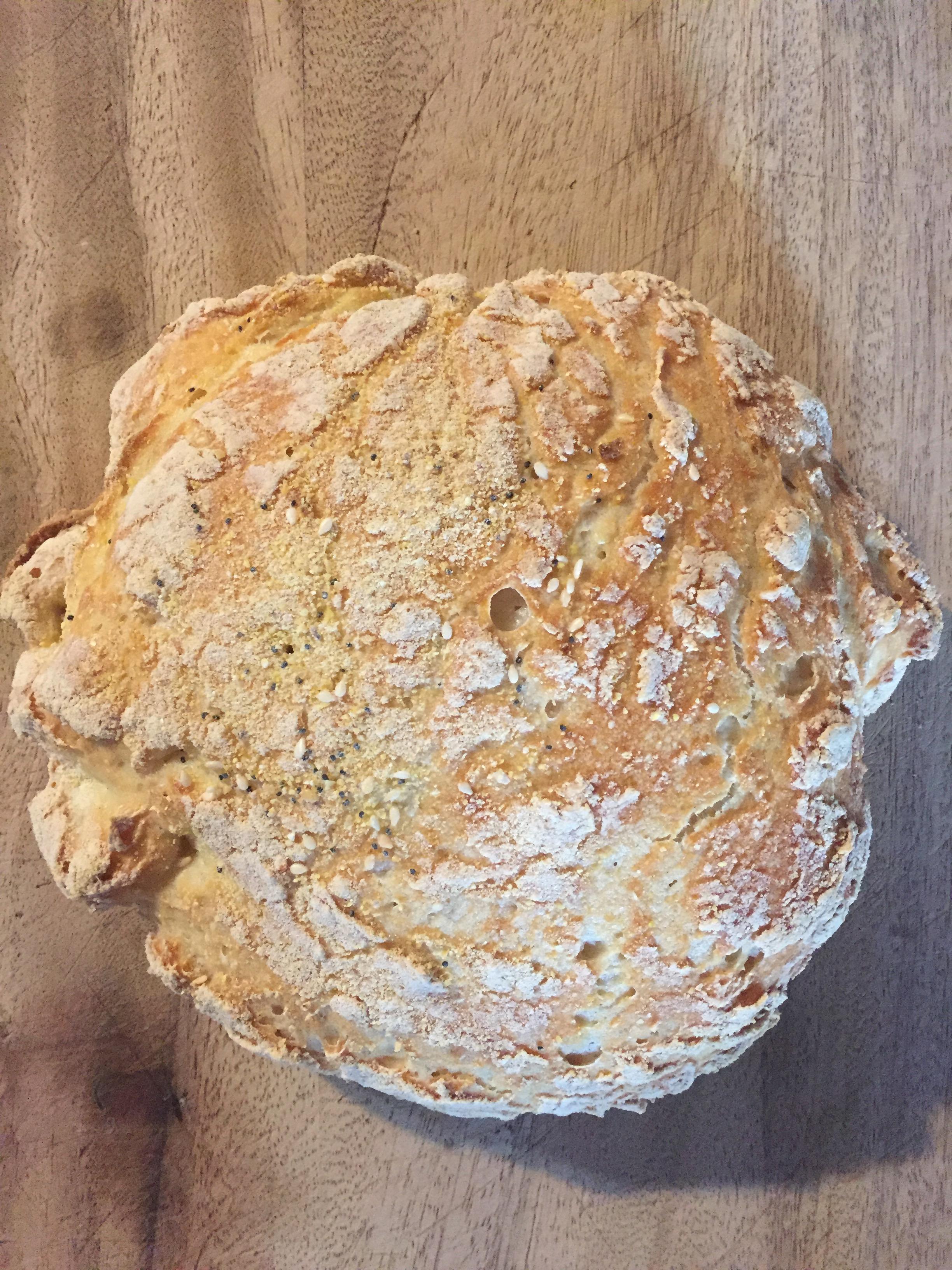 Gluten-Free, Vegan, No Knead Bread Baked in a Dutch Oven