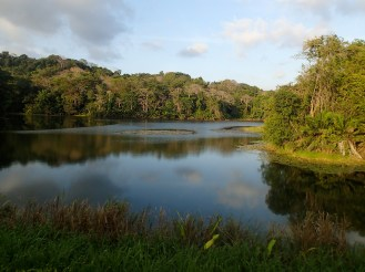 Lake Gatun guarantees a steady water supply for the Panama Canal