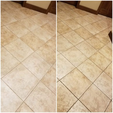 before and after tile cleaning